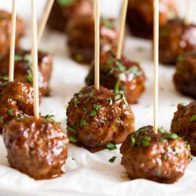 Sweet & Spicy Meatball Bites