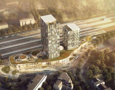 C.F. Møller's Green-Centric Proposal Wins Competition for New Train Station in Hamburg