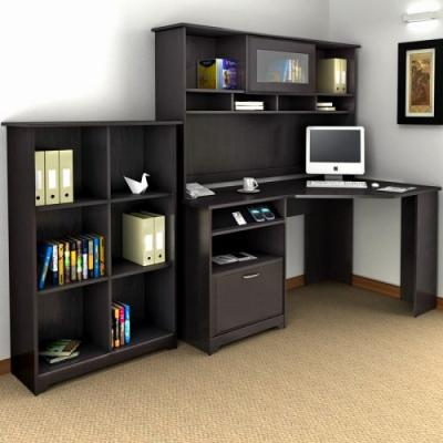 29 Awesome Small Desk with Bookshelf Pics