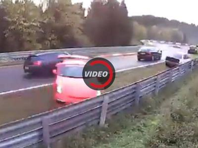 14 Cars Damaged In Crazy Chain Reaction Crash On The Nurburgring