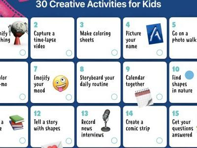 Apple Shares Worksheet With 30 iPad Activities for Kids