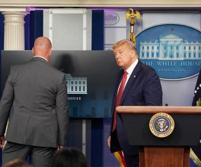 Trump briefing halted by Secret Service after shots fired near White House