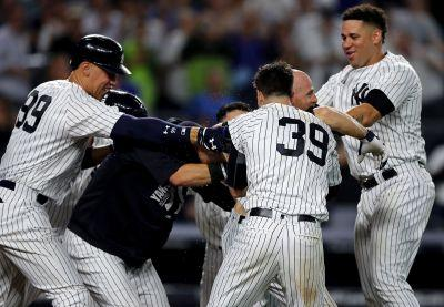 Aaron Judge chips tooth after Yankees' postgame fun scrum