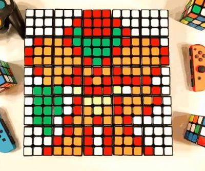Yeah I can get down with this wonderful Super Smash Bros. Rubik's Cube animation