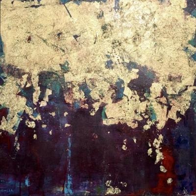 """Contemporary Abstract Expressionist Painting """"WE ARRIVE COMPLETE"""" by Abstract Artist Pamela Fowler Lordi"""