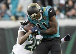 Jaguars receiver Lee practices for 1st time in nearly a year