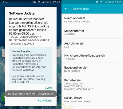 May 2017 Security Patch Hitting Galaxy Note 4 & Note Edge
