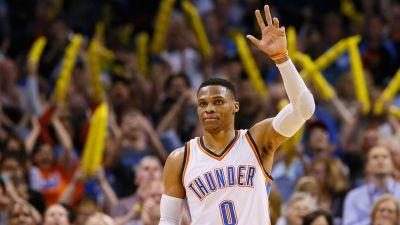 Westbrook ties triple-double record as Thunder top Bucks
