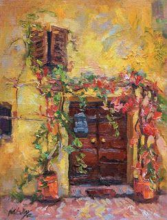 """New """"Golden Textures"""" from Tuscany by Palette Knife Artist Niki Gulley"""