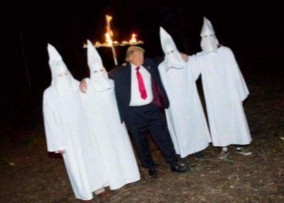 President Donald Trump Seen At KKK Cross Burning Was A Fabricated Photograph