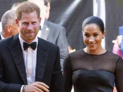 Meghan Markle and Prince Harry Rule the Kingdom at the London Premiere of 'The Lion King'