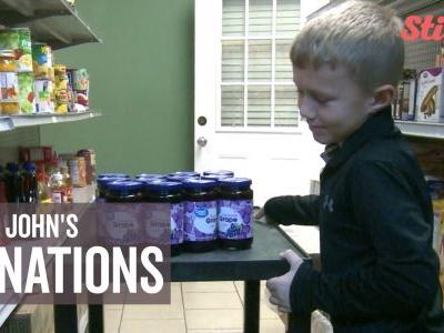 7-year-old 'Jelly John' donates more than 700 jars of jelly in 2 years