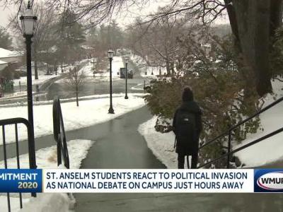 Saint Anselm College students react to political invasion ahead of national debate