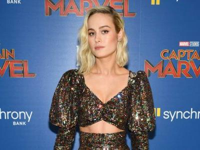 Brie Larson Wore Rodarte Rainbow Sequins to the 'Captain Marvel' New York Premiere