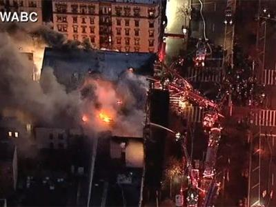 170 firefighters battle fire in 6-story apartment building