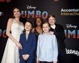 Angelina Jolie and Her Youngest Kids Had a Giggle Fest at the Dumbo Premiere