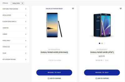 U.S. unlocked Galaxy Note 8 shows up on Samsung's online store