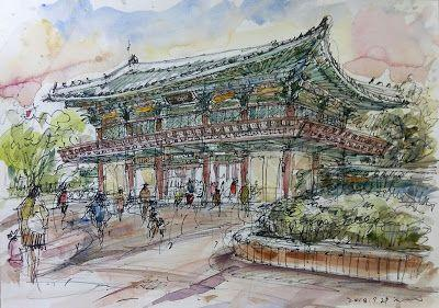 Sketches at the Children's Grand Park, Neung-dong, Gwangjin-gu, Seoul