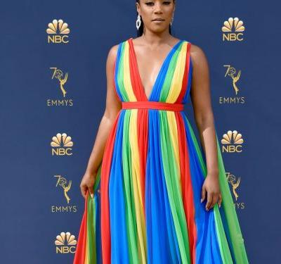 Tiffany Haddish Honors Her Father On The 2018 Emmys Red Carpet