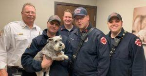 After Owner Dies In A Crash, Firefighters Go Above & Beyond To Help His Dog