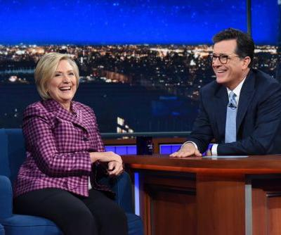 Hillary Clinton and Stephen Colbert talk Trump, Russia, Putin and chardonnay