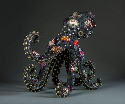 Surreal Assemblages by Betsy Youngquist Combine Human Features with Beaded Animals