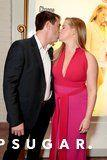 Amy Schumer Shares a Kiss With New Husband Chris Fischer at the I Feel Pretty Premiere