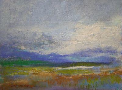 """Abstract Landscape, """"Wistful,"""" by Amy Whitehouse"""