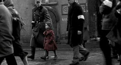 How was the red coat in Schindler's List created?