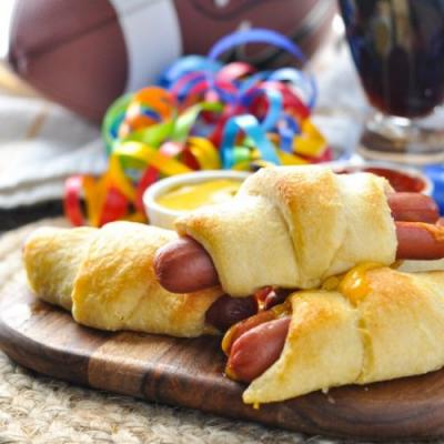 3-Ingredient Cheesy Crescent Dogs