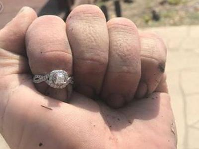 Good Samaritan finds engagement ring dropped in pond