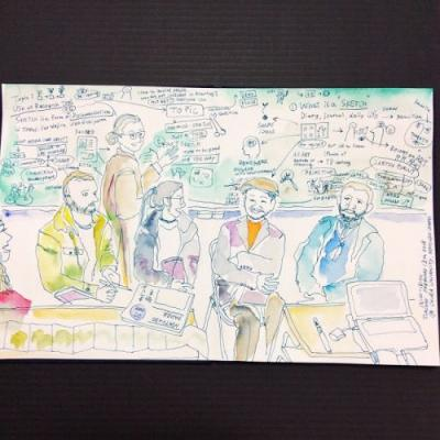 The first four-day sketch event we had on Feb 9-14
