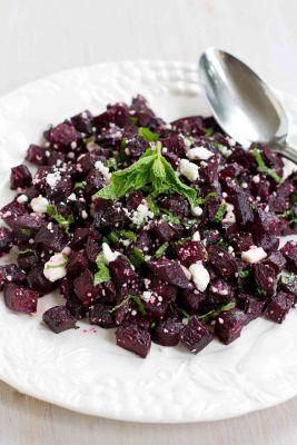 Roasted Beet Salad with Feta Cheese
