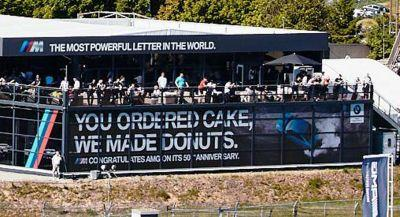 BMW Donuts For Mercedes-AMG's 50th Birthday