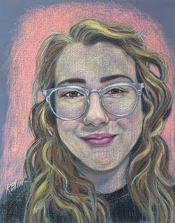 Signe's pastel portrait. by Kim Blair