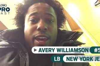 Jets LB Avery Williamson is in the locker room and ready to ball out