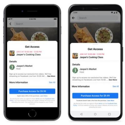 Facebook launches support for paid online events