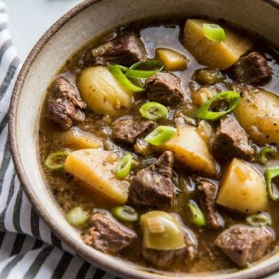Instant Pot Steak & Potato Soup