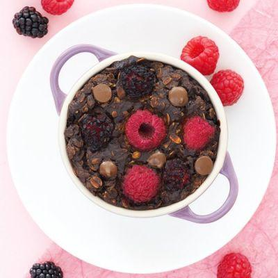 Dark Chocolate Berry Baked Oatmeal