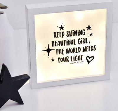 Recycle Christmas Lights to Make This Magical DIY Lightbox