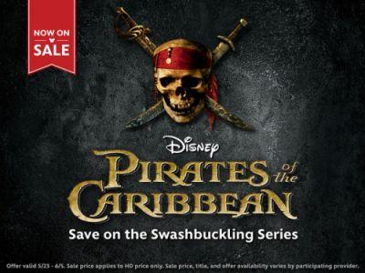 Ahoy, Mateys! Stock your treasure chest with movies 1-4 of the