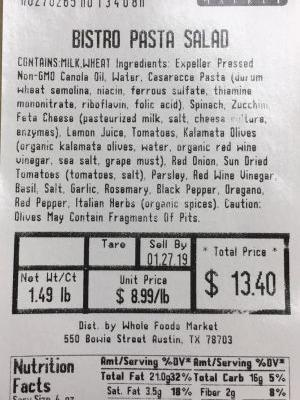 Whole Foods Recalls prepared foods in 8 states