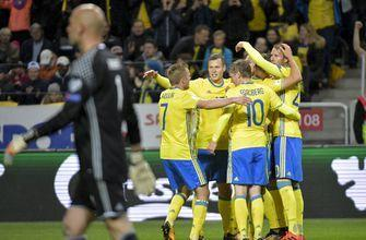 Berg scores 4 as Sweden routs Luxembourg 8-0 in qualifying
