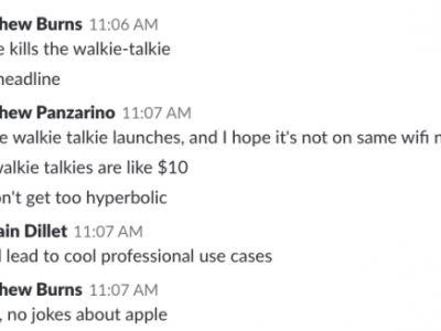 It turns out TechCrunch writers have really strong opinions about Apple's new walkie talkie Watch feature