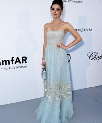 Anna Andres stuns at the amfAR Cannes gala during the 71st