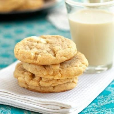 Chewy White Chocolate Sugar Cookies
