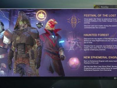 Destiny 2's Halloween Festival Of The Lost Event Now Live