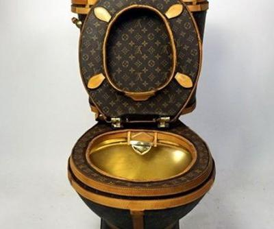 $20,000 USD of Louis Vuitton Bags Were Used to Make a Toilet