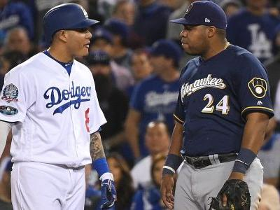 Manny Machado steps into more NLCS controversy as he clips Jesus Aguilar