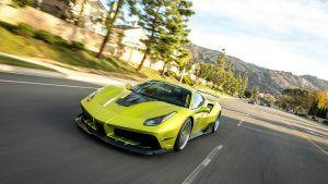 Satin Lime Green Misha Designs Ferrari 488 Is Not Subtle